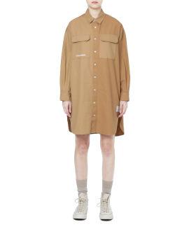 Patchwork shirt dress