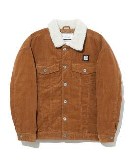 Sherpa collar denim jacket