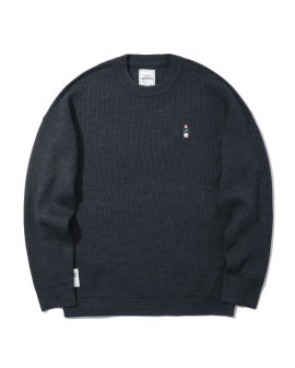 Bear patch sweater