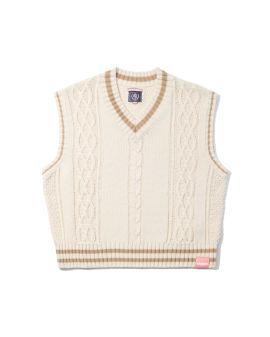 Cable-knit vest