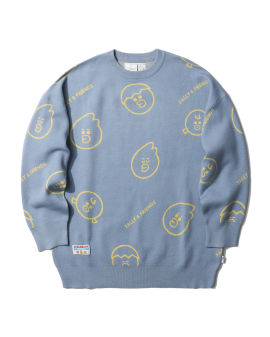 LINE FRIENDS MEETS :CHOCOOLATE intarsia knit sweater