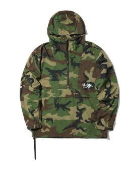 Side zip camo anorak jacket