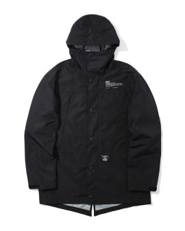 Logo print hooded jacket