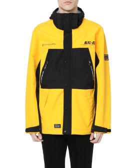 Colour-block patch jacket