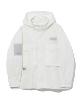 Hooded turtleneck jacket