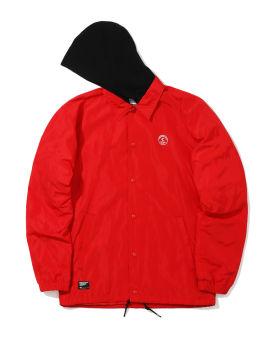 Logo hooded coach jacket