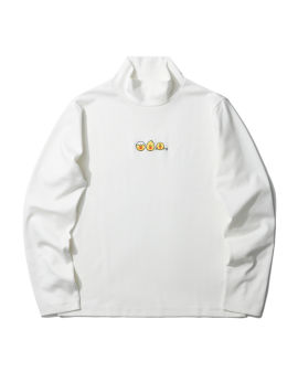 LINE FRIENDS MEETS :CHOCOOLATE turtleneck embroidered tee
