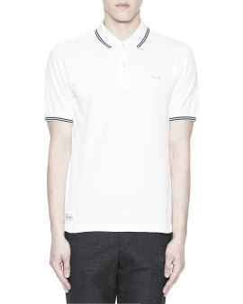 Polar bear appliqué twin tipped polo shirt
