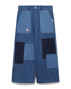 Patchwork wide-legs pants