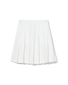Pleated mini skirt