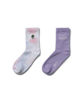 Cactus tie-dye socks - 2 pack
