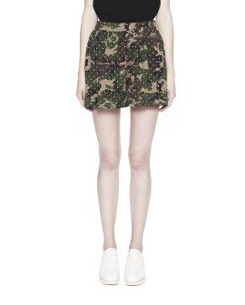 Polka dot overlay camo shorts