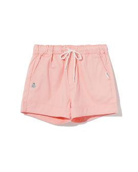 Patched drawstring shorts