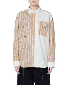 Contrast striped shirt