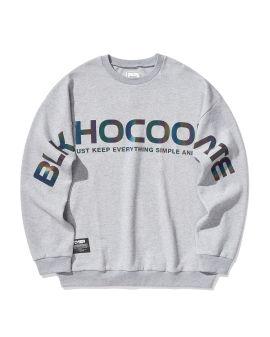 Shiny print sweatshirt