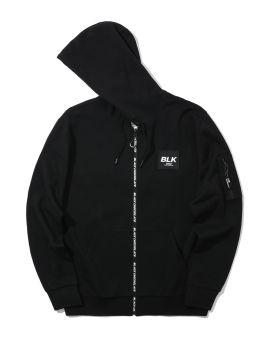 Logo tape zip jacket