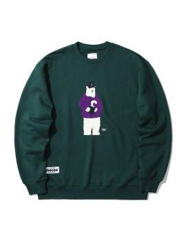 Bear with book graphic sweatshirt