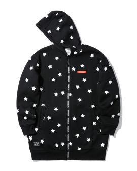 Label badge zip hoodie