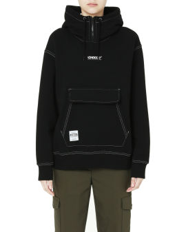 Contrast stitch hoodie