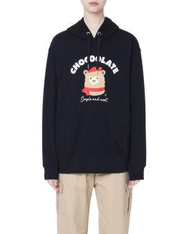 Terry flock alpaca hoodie