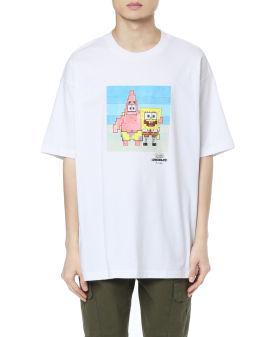 X Spongebob X Adam Lister Characters print tee