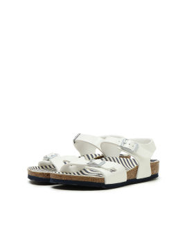 Rio Nautical Stripes Birko-Flor Lack sandals