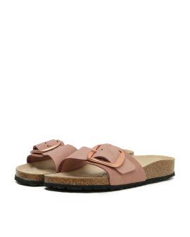 Madrid Nubuck Big Buckle Nubukleder sandals