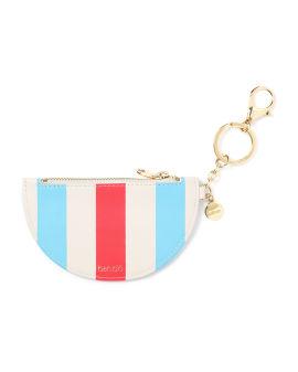 Stripe logo pouch