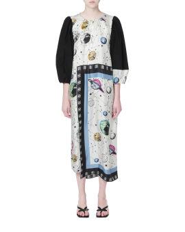 Asymmetrical layer dress