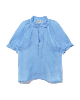 Puffed-sleeves top
