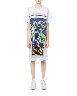 Layered graphic print dress
