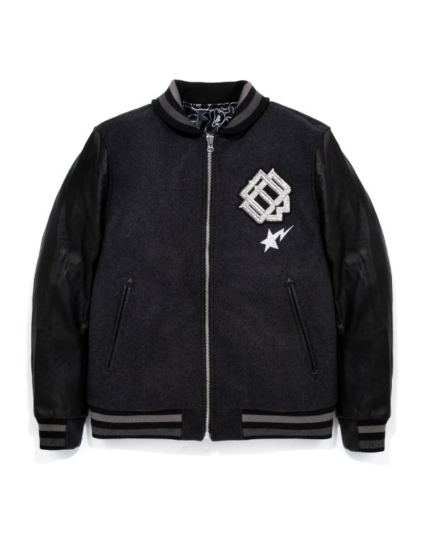 Emblem patch bomber jacket