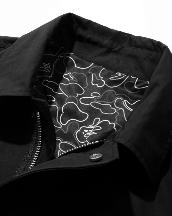 Moniker embroidered zip jacket