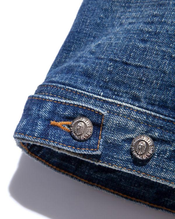 Panelled sleeve denim jacket