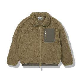 Fuzzy Panelled Jacket
