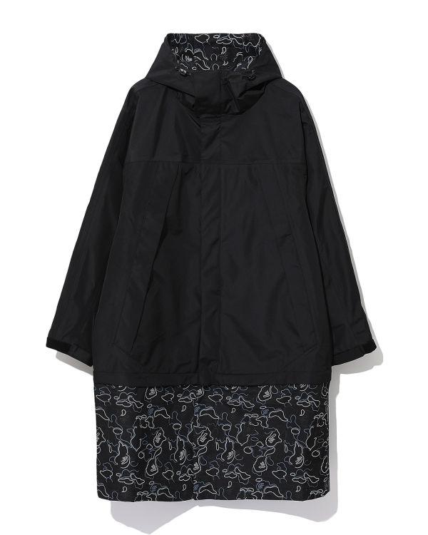Layered hooded jacket