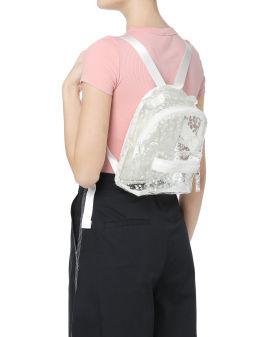 Splatter print transparent backpack