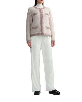 Embellished-button cardigan