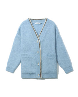 Faux pearl button cardigan