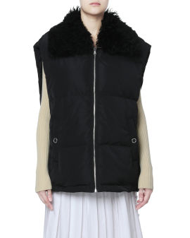 Zip-up down vest