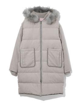 Ruff hood down jacket