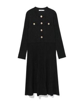 Shiny buttoned dress