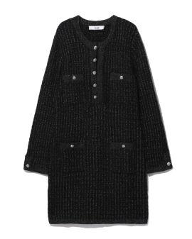 Accent button dress