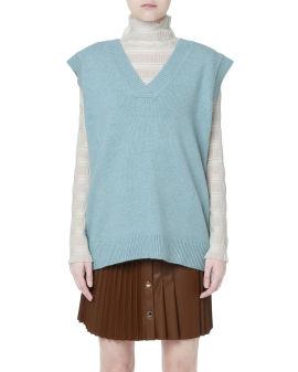 Rib knit vest