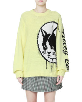 Alley cat jacquard sweater