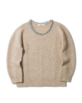 Chain embellished sweater