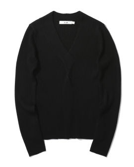 Ribbed knotted sweater