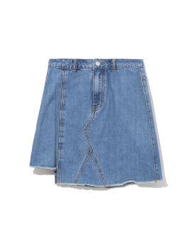 Asymmetrical denim skirt
