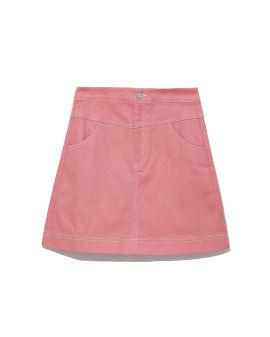 Panelled mini skirt