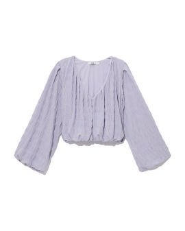 Textured relaxed-fit top